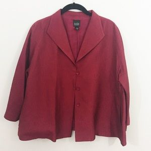 Eileen Fisher 100% Silk Blazer Jacket lightweight